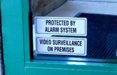 Alarm System Decal