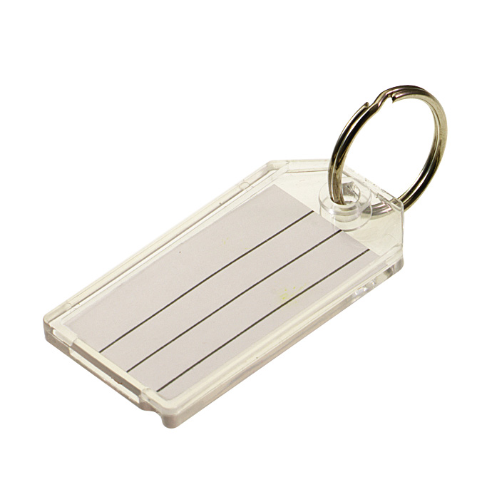 Key Tags Clear Plastic Split Ring Key Tags Selectlocks Com