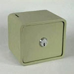 Security Lock Box with Key Slot <img src=