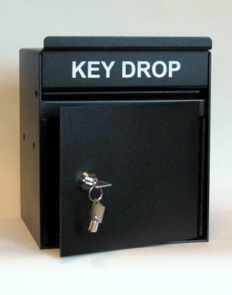 Key Drop Box Heavy 12 Gauge Steel With Pivoting Drop Slot