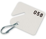 Slotted, Numbered Key Tags