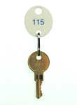 Numbered White Oval Key Tags