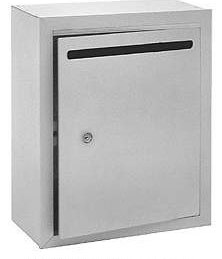 Extra large wall mount drop box for Lock box with slot for documents