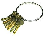 Industrial Split Metal Key Rings <img src=