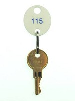 Numbered White Oval Key Tags (1-310)<br /> Configured for the Large Hook<br />Motor Vehicle Key Cabinet from MMF