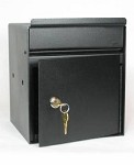 key drop box heavy 12 gauge steel with pivoting drop slot With secure document drop box