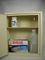 Locking Medicine/Storage Cabinet <img src=