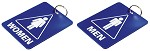 Restroom Key Tags  Set of 2 <img src=